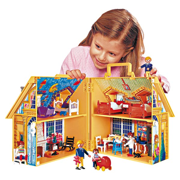 playmobil 4145 maison transportable memes. Black Bedroom Furniture Sets. Home Design Ideas