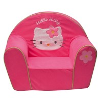 Fun House - Fauteuil velours brodé Hello Kitty